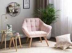 Fauteuil rose poudré : les plus beaux modèles Decor, Home, Inspiration, Chair, Furniture, Accent Chairs, Bedroom, Deco