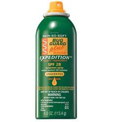Avon: SKIN SO SOFT Bug Guard Plus IR3535® Expedition™ SPF 28 Aerosol Spray     http://kseaberry.avonrepresentative.com