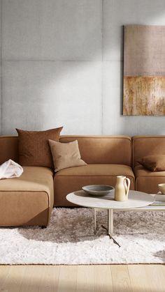 Sofa Design, Interior Design, Interior Ideas, New Living Room, Living Area, Living Room Furniture, Boconcept, Minimalist Sofa, Sofas