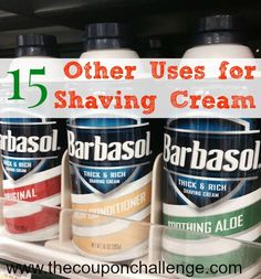 15 Other Uses for Shaving Cream