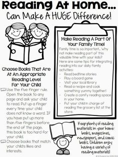 This letter demonstrates the importance of reading with your children. Would be a great thing to send home with parents!