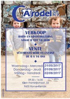 CARODEL - verkoop van baby- en kinderkledij van 0 tot 16 jaar / Vente de vêtements bébé et enfants de 0 à 16 ans -- RONSE -- 31/05-02/06