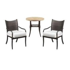 Attrayant Hampton Bay Madison 3 Piece Patio Bistro Set With Bare Cushions 13H 001