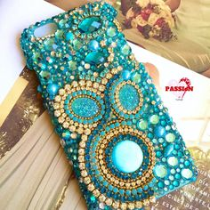 Turquoise and brightenes for an iPhone 6/6s case. It looks awesome!!. ✨ Ready to ship.  I can make similar one in other phone type. Contact me!!.