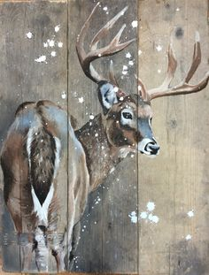 Hert op steigerhout Deer on scaffolding wood Related posts:Dot painting ocean flower inspired by the original design Metavivor door .Painted flowers on canvas M BD flowers, bouquet of egg Stunning Christmas Canvas. Pallet Painting, Tole Painting, Painting On Wood, Painting & Drawing, Deer Pictures, Deer Art, Wildlife Art, Animal Paintings, Deer Paintings