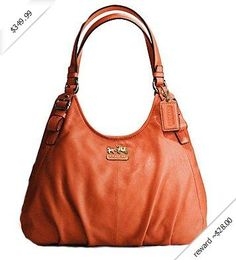 Coach Madison Leather Maggie Shoulder Bag Purse Tote 16503 Persimmon