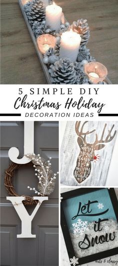 5 Simple DIY Christmas Holiday Decoration Ideas | Arts and Classy