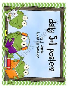 Daily 5 Frog Theme Posters from House Fly Creations on TeachersNotebook.com (11 pages)