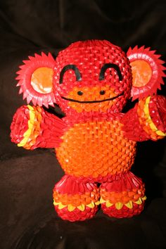 3D Origami Monkey By OneLoneTree