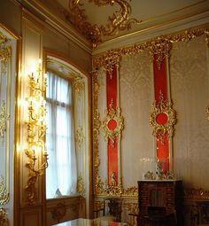 The Crimson Room. Catherine's Palace at Tsarskoe Selo. Pushkin, Russia.