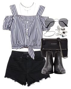 """""""Outfit for a summer festival"""" by ferned on Polyvore featuring Alexander Wang, Givenchy, Acne Studios, Mudd, Monica Vinader and Wet Seal"""