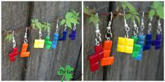 Tetris Piece earrings by Louness26