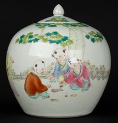 China 20.Jh. Deckeltopf -A Chinese Famille Rose Porcelain Jar  - Cinese Chinois