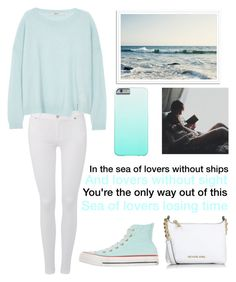 """""""Sea of Lovers"""" by blessed-with-beauty-and-rage ❤ liked on Polyvore featuring 7 For All Mankind, J Brand, Converse, Michael Kors, women's clothing, women, female, woman, misses and juniors"""