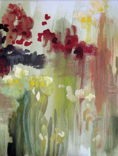 """Saatchi Online Artist: Monique Anderson; Acrylic, 2010, Painting """"Red Up Kew"""""""