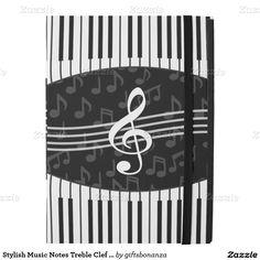 Stylish Music Notes Treble Clef and Piano Keys iPad Pro Case