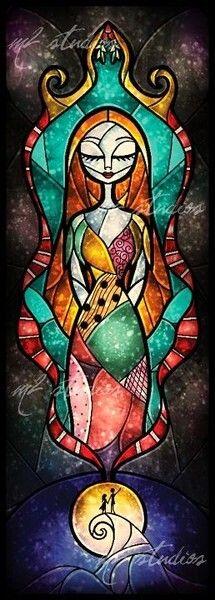 Sally (x2) [feat. Jack] (Stained Glass by MandieManzano @deviantART) #TheNightmareBeforeChristmas