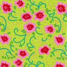 Du peps pour vos créations avec ce tissus de la collection Venise, motifs Fiora Lime, 100% coton, largeur 150 cm, longueur 50 cm