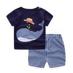 2746bae9fe19 Cool Baby Boy Clothes Summer Newborn Baby Boys Clothes Set Cotton Baby  Clothing Suit (Shirt
