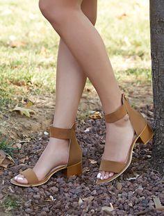 AÇIK BURUN TOPUKLU Moreno Taba Süet Bantlı Topuklu Sandalet