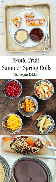 Exotic Fruit Summer Spring Rolls - The Vegan Eskimo