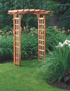 Pergola-Style Cedar Arbor Welcomes Guests to Your Garden                                                                                                                                                                                 More