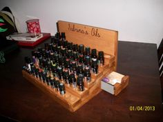 Beautiful essential oil display!  I want one! ;-)