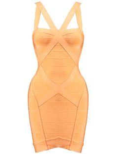 Sexy Cut Out Orange Bodycon Bandage Dress . Shop now at :  http://misscircle.com/Dresses/Bandage-Dress/Sexy-Cut/Sexy-Cut-Out-Orange-Bodycon-Bandage-Dress.html