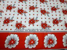 African Fabrics Kanga Khanga Sarong /Fabrics For Dress Bags,Skirt making/Craft Making Fabrics/ Kanga Lesso/Tissues Africa/Kanga Fabrics Craft Making, African Fabric, Crafts To Make, Fabric Crafts, Printing On Fabric, Fabrics, Skirt, Tanzania, Pattern