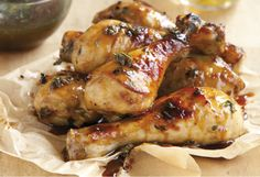 Mustard and honey make a winning marinade combination. Chicken can either be barbecued or baked in the kitchen. You can use the leftover marinade as a sauce.