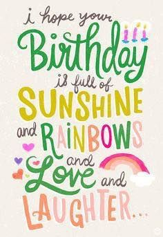 Sunshine & Rainbows...Love & Laughter