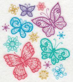 Flight of the Butterflies design (K9157) from www.Emblibrary.com