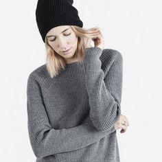 Women's Merino Hat - Black - Everlane  *my everyday beanie.