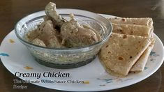 Creamy Chicken | Ultimate Chicken Recipe | White Sauce Recipe | Punjabi ... Chicken Sauce Recipes, White Sauce Recipes, My Recipes, Punjabi Chicken Recipe, Love Eat, Creamy Chicken, Make It Yourself, Cooking, Ethnic Recipes