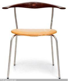 Hans Wegner; #701 Tubular Steel, Wenge and Leather Chair for Johannes Hansen, 1965.