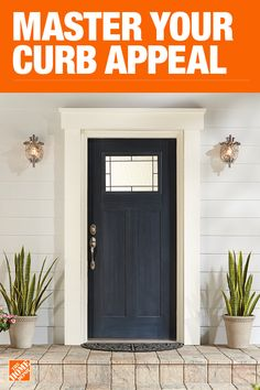 Front Doors - Exterior Doors - The Home Depot Front Door Molding, Front Door Trims, Exterior Front Doors, House Front Door, Painted Front Doors, Front Door Colors, House Paint Exterior, House Doors, Exterior House Colors