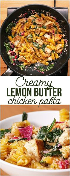 Creamy Lemon Butter Chicken Pasta: