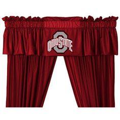 "Ohio State Buckeyes 88"" x 14"" Window Valance"