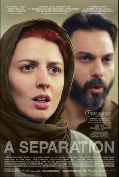 A Separation (2011, Persian) A married couple faces a choice between providing better opportunities for their daughter by leaving Iran, or staying to look after a parent with Alzheimer's.