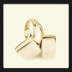 Miss Bibi White sugar cube rings