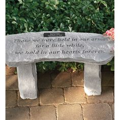 Personalized Memorial Garden Bench | Best-Selling Garden Art