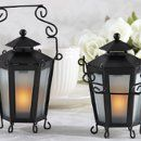 Give a little light to your guests with this awesome candle lantern party favor.  These metal lanterns hold a tealight making them not only an elegant party decoration but a great wedding favor.  And with Advantage Bridal's low price guarantee and fast shipping you'll fall in love with them, too!