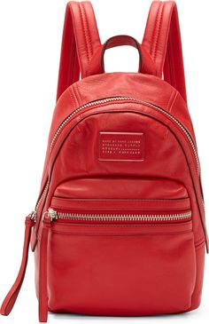 Marc by Marc Jacobs - Red Leather Third Rail Backpack