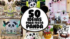 50 Ideias para Festa Panda Panda Birthday Cake, Panda Baby Showers, Panda Party, Baby Hair Bows, Baby Party, Cake Smash, Mickey Mouse, Alice, Birthday Parties