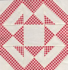 Jack knife block - Farmer's wife quilt sampler