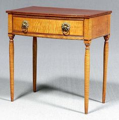 Federal tiger maple dressing table,