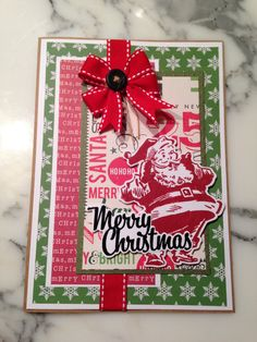 Retro Santa using Tim Holtz stamps and die cuts.
