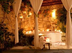 Mystical bathtub grotto. YES please!