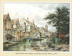 BEDŘICH HAVRÁNEK (1821 - 1899) Prague Mills