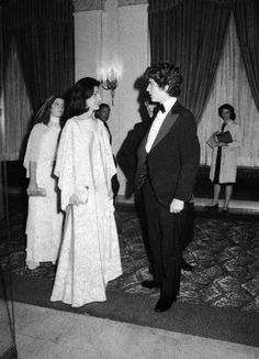 Jackie O, Caroline and John at the A Bridge Too Far opening in 1977.